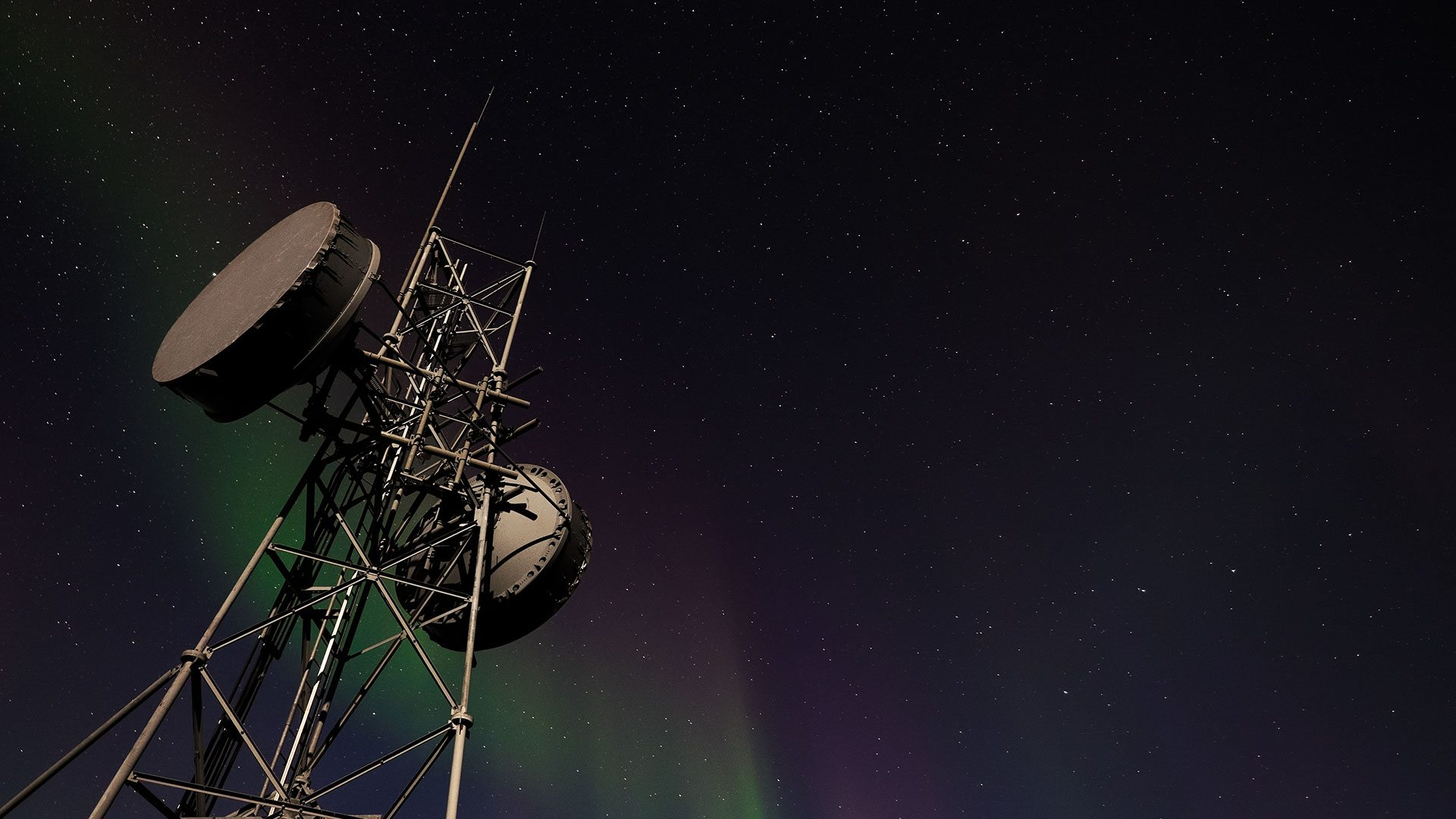 Aurora Borealis with Microwave Tower, Tombstone NP, Canada