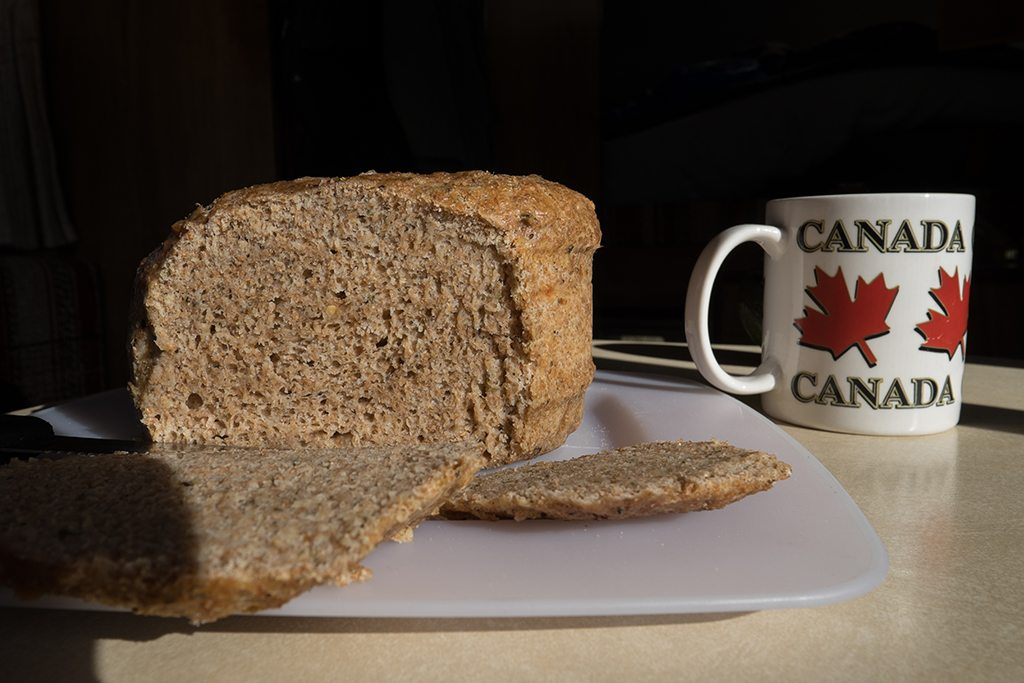 Selfmade campfire bread