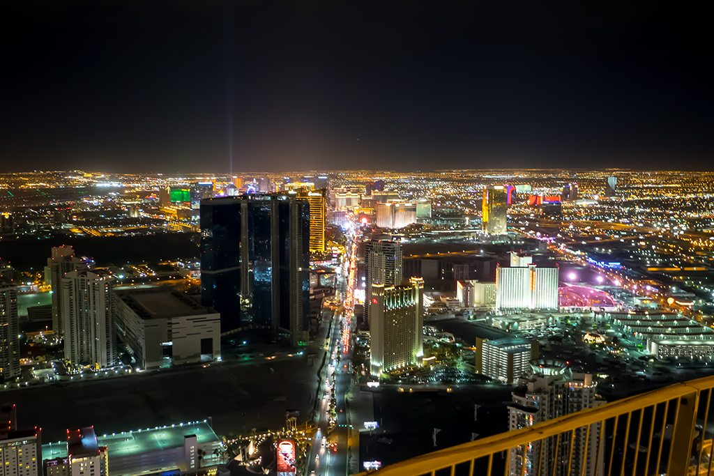 View from the Stratosphere towards the Strip