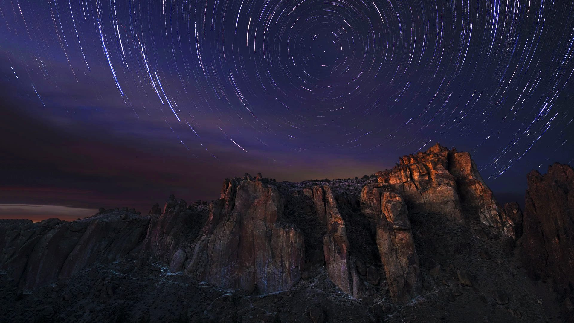 Smith Rock Star Trails