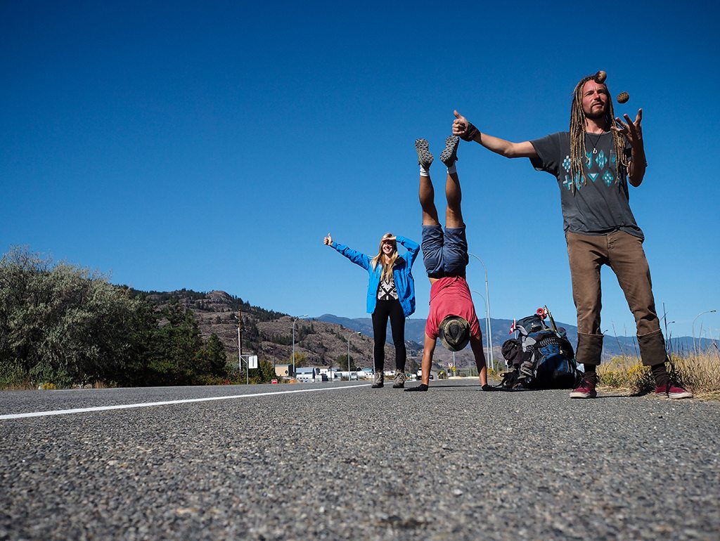 Hitchhiking in the Okanagan Valley, Canada