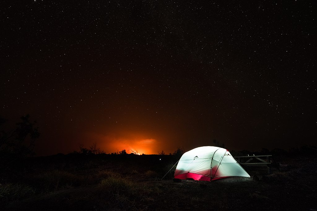 Camping in the Volcanoes National Park