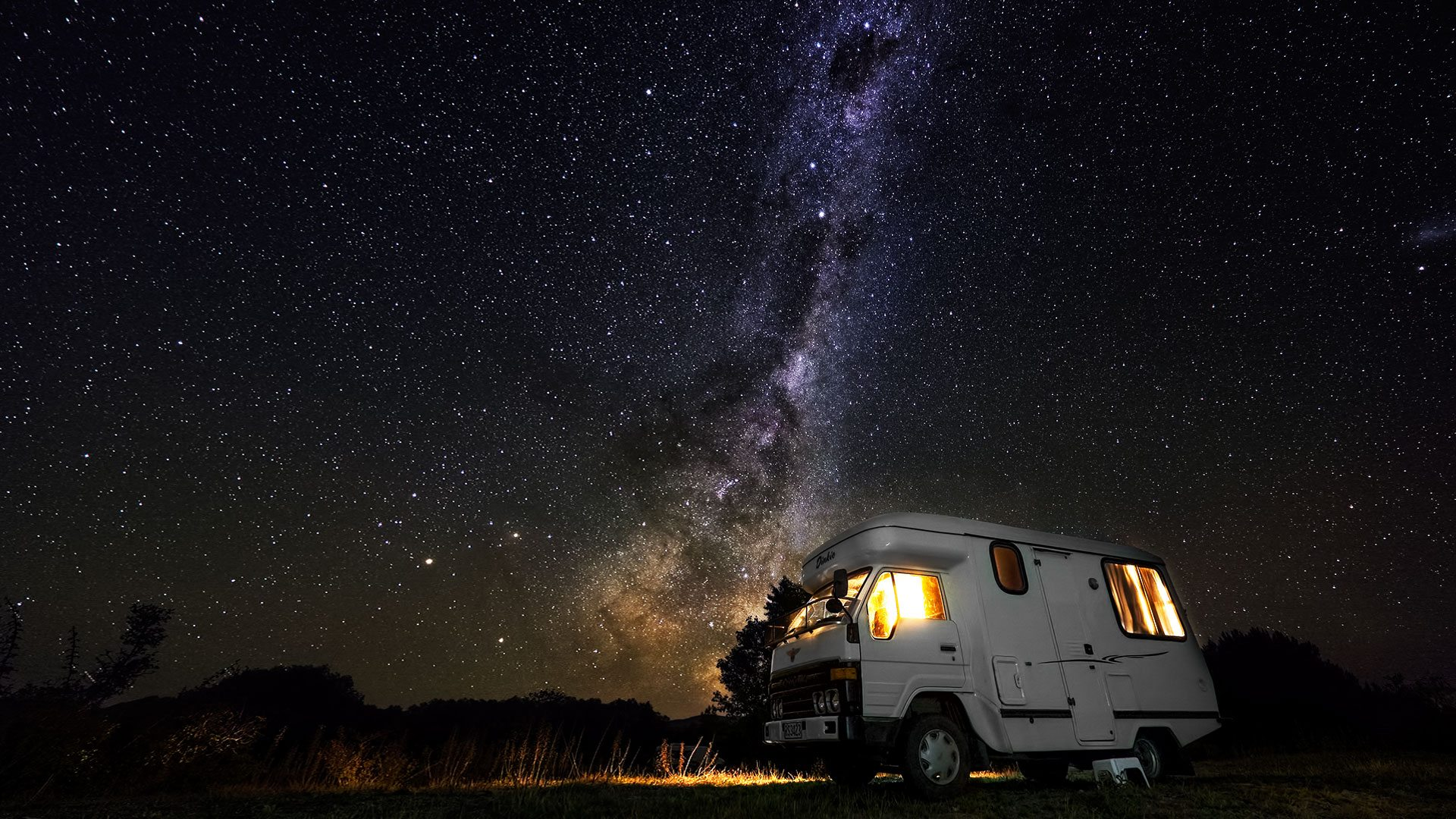 Camping under the stars, Lake Tekapo, New Zealand