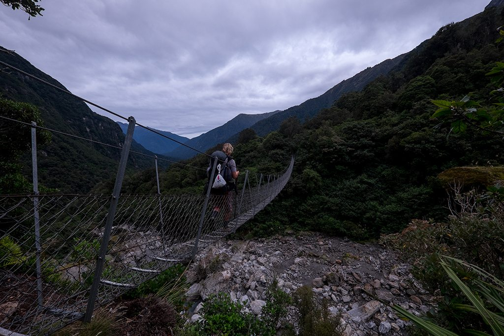 Me crossing another suspension bridge