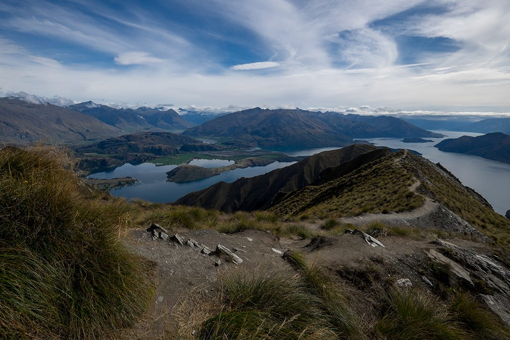 View from the Roy's Peak track towards Lake Wanaka