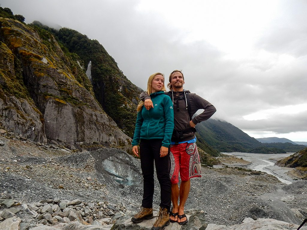 Sarah and me at the Franz Josef Glacier